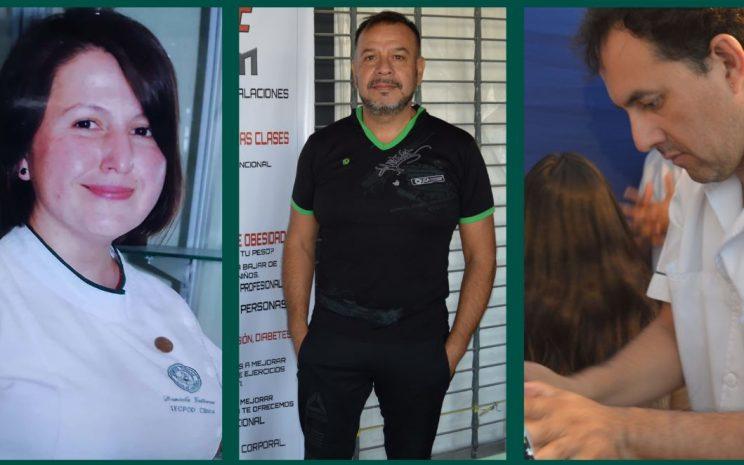 Daniela, Marco y Cristian decidieron emprender tras finalizar sus carreras, realizando atenciones podológicas, abriendo un gimnasio y realizando terapias complementarias a domicilio, respectivamente.