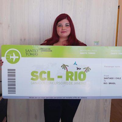 Andrea Tapia, ganadora viaje a Brasil